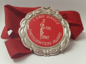 Full Colour Domed decal on Medal with Red Strap2