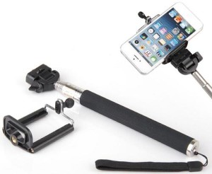 selfie stick retractable black handle