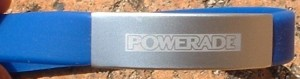 wrist bands engraved Powerade logo