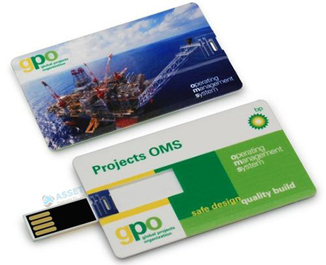 Credit card usb's printed in full colour